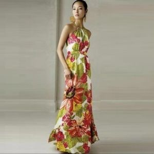 Anthropologie Silk Lil Manambe Floral Maxi Dress 4